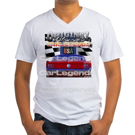 mustang_car_legends_mens_vneck_tshirt